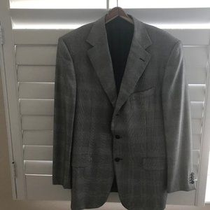 Once worn Zegna silk and wool sportcoat